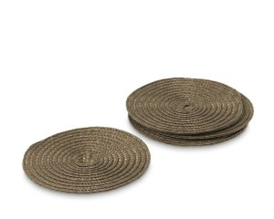 Round Woven Coasters, Set of 4