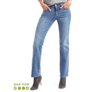 Washwell mid rise perfect boot jeans | Gap