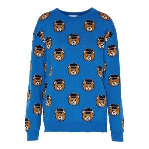 Intarsia-knit wool sweater