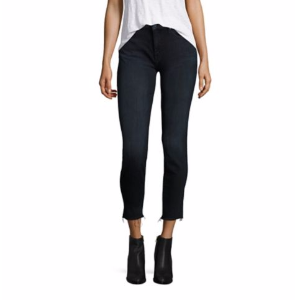 MOTHER - Looker Raw-Edge Skinny Ankle Jeans - saks.com