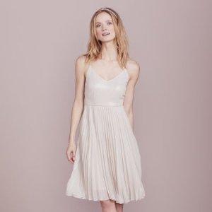 LC Lauren Conrad Dress Up Shop Collection Pleated Metallic Dress - Women's