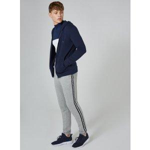 Navy Zip Through Muscle Hoodie - Hoodies & Sweatshirts - Clothing - TOPMAN USA