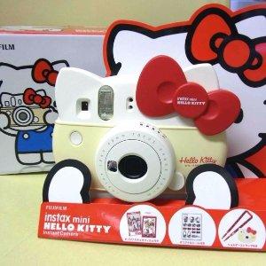 直邮中美!$68.5/RMB472富士拍立得 mini HelloKitty 纪念款相机 限量版套装 特价