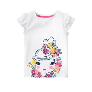 Toddler Girls White Flower Girl Tee by Gymboree