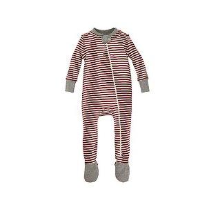 Baby Candy Cane Stripe Organic Cotton Sleeper