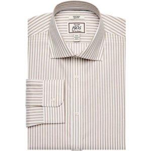 1905 Collection Slim Fit Cutaway Collar Stripe Dress Shirt CLEARANCE