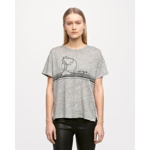 Palm embroidery tee