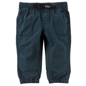Buckled Poplin Pants