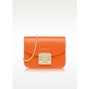 Furla Mango Leather Metropolis Mini Crossbody Bag