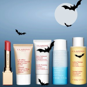 4-piece Halloween TreatWith any $100 order @ Clarins