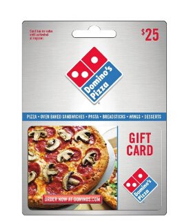 $20Domino's Pizza $25 Gift Card