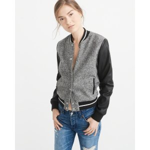 Womens Varsity Jacket | Womens New Arrivals | Abercrombie.com