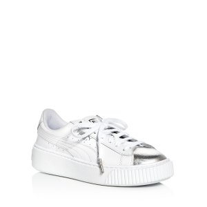 Women's Basket Lace Up Platform Sneakers