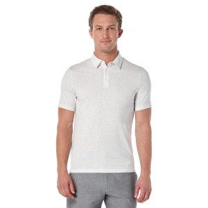 Short Sleeve Diamond Pattern Polo - Perry Ellis