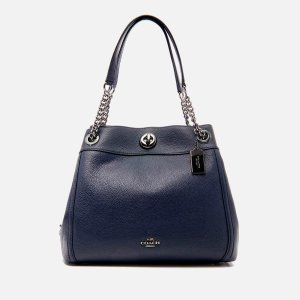 Coach Women's Turnlock Edie Shoulder Bag - Navy - Free UK Delivery over £50