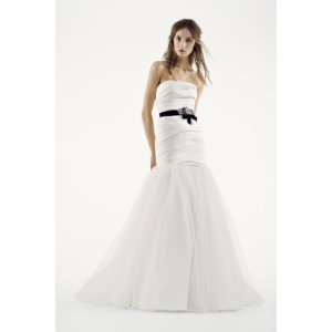 White by Vera Wang Fit and Flare Wedding Dress - Davids Bridal