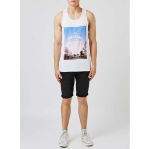 White Venice Beach Print Tank Top - View All Sale - Sale - TOPMAN USA