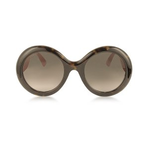 Gucci GG0101S Acetate Round Women's Sunglasses