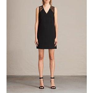 ALLSAINTS US: Womens Prism Dress (Black)