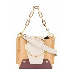 YuzefiMini Tri Colour Leather Delila bucket bag