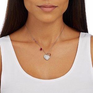 Duo Heart Medium Pendant - Jewelry - Swarovski Online Shop