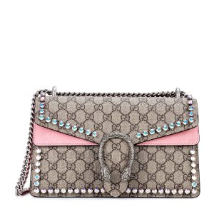 Gucci - Dionysus GG Supreme Small coated canvas shoulder bag