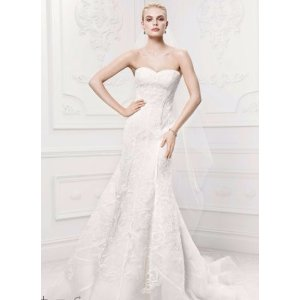 SAMPLE As-Is Satin Details Tulle Mermaid Wedding Dress