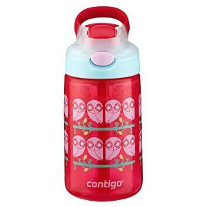 $7.17Contigo AUTOSPOUT Straw Gizmo Flip Kids Water Bottle, 14oz, Ruby
