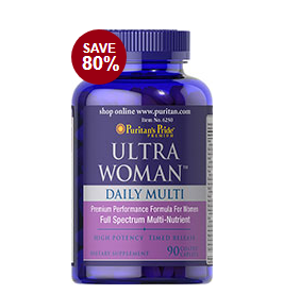 Ultra Woman™ Daily Multi Timed Release 90 Caplets | Semi-Annual Sale Supplements | Puritan's Pride