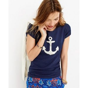 Striped anchor collector T-shirt : Graphic & Collector T-shirts | J.Crew Factory
