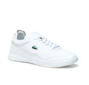$69.99 (原价$100)Lacoste 女款白色帆布休闲鞋
