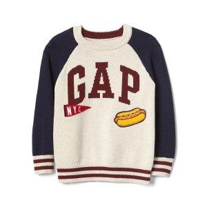 Snack logo baseball sweater