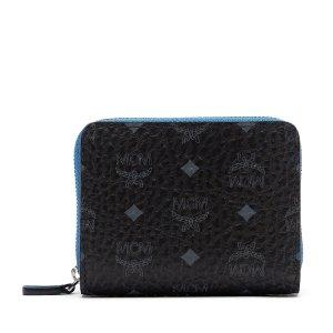 Mini Color Visetos Zip Wallet in Black