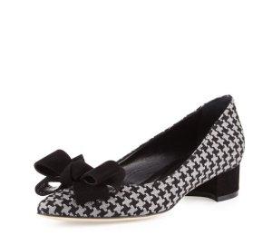 $362 Manolo Blahnik格纹低跟鞋!Manolo Blahnik低跟鞋37.5/38.5码热卖