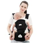 Innoo Tech Hipseat Ergonomic Baby Carrier | Breathable 3D Mesh Fabric Design for Summer | Front, Back and Hip Seat Position | Great Back and Lumbar Support | 100% Cotton | Pockets to Hold Keys, Cards