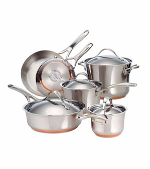 $255, Save Up to $580!Anolon® Nouvelle 10-pc. Stainless Steel Cookware Set + FREE BONUS GIFT