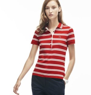 $79.99($115)Lacoste Women's Slim Fit Stripe Polo Shirt