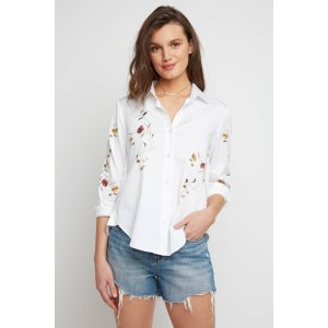 Blank Embroidered Tie Back Shirting | South Moon Under