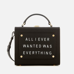 meli melo Women's Art Bag with Text - Black - Free UK Delivery over £50