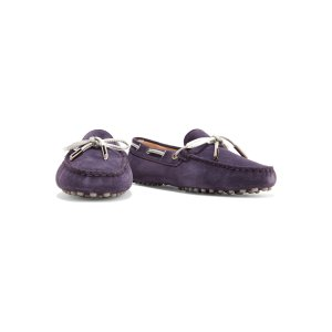 Heaven leather-trimmed suede loafers | Tod's |