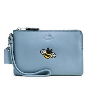 Coach Peony Embossed Leather Wristlet @ Lord & Taylor