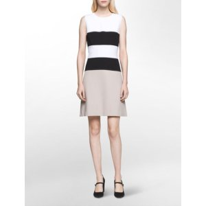colorblock a-line dress | Calvin Klein