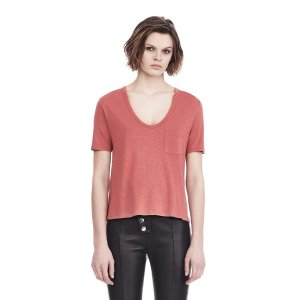 CLASSIC CROPPED TEE WITH POCKET