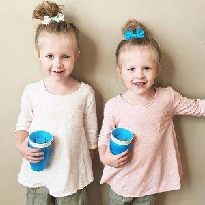$6.95销量冠军:Munchkin Miracle 360 防泼洒儿童饮水杯 300ml 两个装