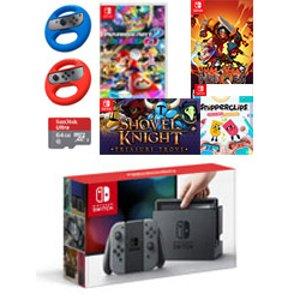 Nintendo Switch Gray Joy-Con Mario Kart Wheel & Digital Bundle - Ships by 05/19/17 for Nintendo Switch | GameStop