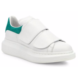 Alexander McQueen - Grip-Tape Leather Platform Sneakers - saks.com