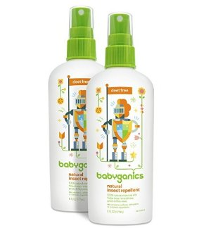 $14.29 Babyganics Natural DEET-Free Insect Repellent, 6oz Spray Bottle (Pack of 2)