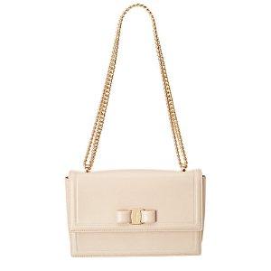 Salvatore Ferragamo Ginny Vara Leather Flap Bag