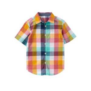 Boys Maui Plaid Plaid Shirt by Gymboree