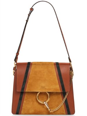 $1254 (Was $2090)CHLOÉ  MEDIUM FAYE SUEDE PATCHES LEATHER BAG @ Luisaviaroma